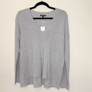 Eileen Fisher NWT subtle shimmery v neck sweater